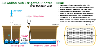 30 gallon tote sip tutorial self watering sub irrigated garden