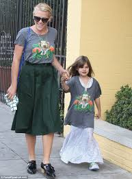 Mother Daughter Halloween Costume Busy Philipps Daughter Birdie Don Matching Shirts