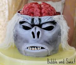 bubble and sweet monkey brain cake with jelly brain tutorial