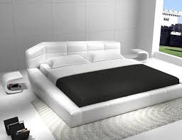 Modern Bed Frame Modern Furniture Stores Leather Bed In White