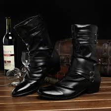 mens leather riding boots for sale sale pointed toe buckle mens boots martin boots korean dress