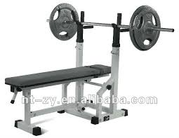 Home Made Bench Press Flat U0026 Incline Adjustable Barbell Bench With Dips Foldable