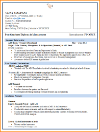 resume format for it freshers resume format for simple sample