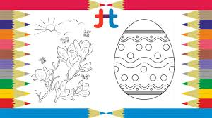 easter eggs coloring youtube