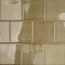 roman spanish olive 4x4 glass tile