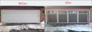 Replacing A Garage Door Garage Doors Before And After Garage Door Installation Aladdin Doors