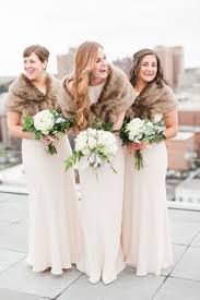 fur shawls for bridesmaids forest in chrissiesmeer winter bridesmaids fur and