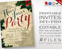 christmas party invitation template christmas invitation etsy
