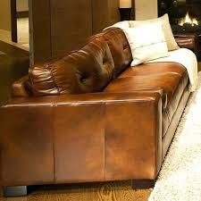 Rustic Leather Sofa by Leather Sofa Oversized Leather Furniture Oversized Distressed