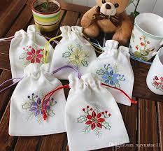 sachet bags embroidered sweet bursa bag empty sachets medicine bags of