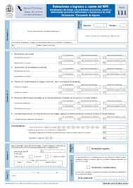 plantilla de nomina para rellenar modelo 111 de retenciones e ingresos del irpf ser autónomo ser
