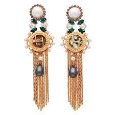 outhouse earrings tassel earrings uk desoir women s designer jewellery