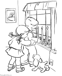 free christmas candle coloring pages