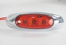 red led marker lights miro flex surface mount sealed red led marker clearance light w
