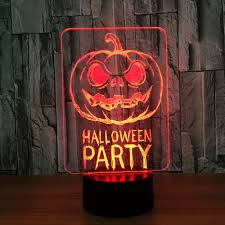 colors change halloween terrorist pumpkin decorative light