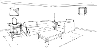 Interior Design Sketches Interior Design Rendering