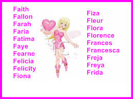 girls names starting with f where they come from and what they