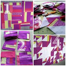 quilty habit wip improv winged square quilt