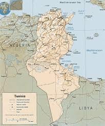 tunisia on africa map map of tunisia mediterranean coast travel africa