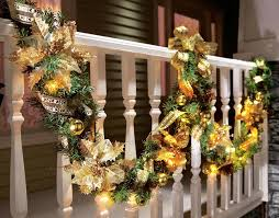 outdoor christmas garland with lights sweet lighted christmas garland clearance fishwolfeboro home