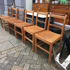 Vintage Wood Chairs Set Of 6 Vintage Wooden Chairs The Consortium Vintage Furniture