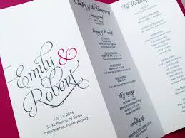 wedding program paper stock wedding programs bifold folded wedding programs wedding order of