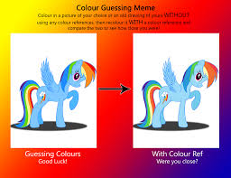 Rainbow Meme - colour guessing meme rainbow dash by deannaphantom13 on deviantart
