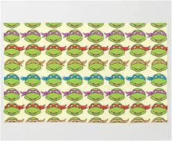 tmnt wrapping paper colorful turtle repeat pattern bedroom throw rug best