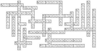 classifying matter crossword editable by tangstar science tpt