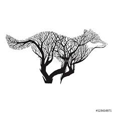 wolf run silhouette exposure blend tree drawing