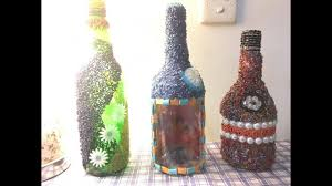 DIY Decorating Bottle With Beads