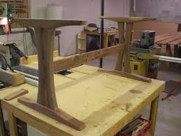 making a trestle table how to build a trestle table base google search writing desk