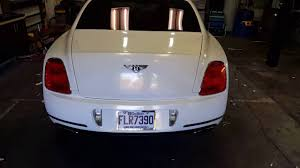 white gold bentley bentley continental sport full wrap gloss white gold sparkle