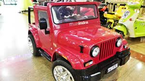 mahindra thar mahindra thar ride on battery operated kiddie toy youtube