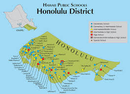 map of hawaii cities hawaii doe oahu map