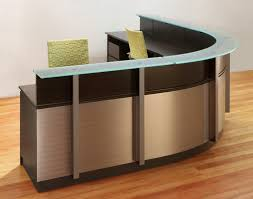 podium style reception desk custom office furniture stoneline designs