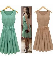 2014 new summer casual women elegance bow pleated chiffon vest