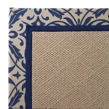 outdoor parkdale rug in sunbrella softly elegant cobalt white