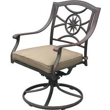 Wrought Iron Swivel Patio Chairs by Exterior Light Brown Polished Metal Swivel Chair Decor With