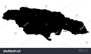 Map Jamaica Silhouette Map Jamaica North America Stock Vector 310384280