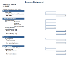 Income Statement Excel Template Complete Income Statement With Exle Template And Format