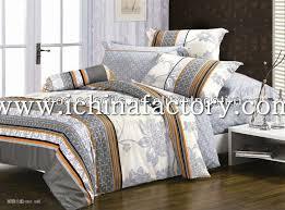comforter cover duvet cover set gray bedding set stripe cover king size bedding 4pcs twill print