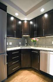 kitchen astonishing dark cabinets light countertops backsplash