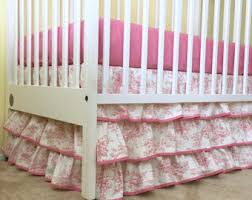 17 saffron lulu stripe baby boy pleated crib skirt