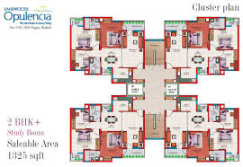 study room floor plan floor plans 3bhk 4 bhk mohali apartments sandwoods opulencia