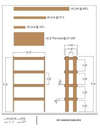 Plywood Garage Cabinet Plans Diy Garage Shelves