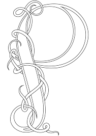 celtic coloring pages letter p coloringstar