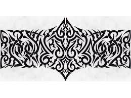 tribal wide armband tattoo design tattooshunt com