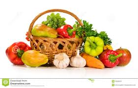 fruit and vegetable basket fresh vegetables and fruits in a basket royalty free stock
