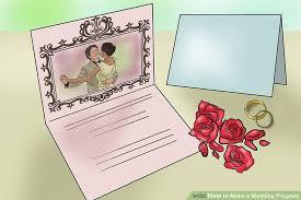how to make a wedding program 3 ways to make a wedding program wikihow